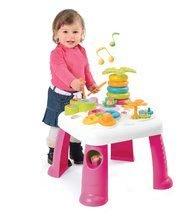 Interaktívne hudobné stoly - Didaktický stolík Cotoons Smoby so svetlom a zvukom ružový od 12 mes_0