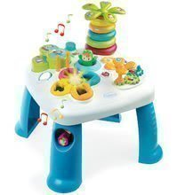 Didaktický stolík Cotoons Smoby s funkciami, so svetlom a zvukom modrý od 12 mes