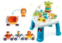 Szett készségfejlesztő asztal Cotoons Smoby funkciókkal kék és kisautók Imagin Car Cotoons