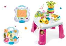 Didaktický stolík Cotoons Smoby s funkciami ružový+interaktívny tablet 2v1 so zvukmi a svetlom 211067-7