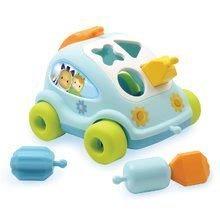 Igrače za vlečenje - Avto Hrošč Cotoons Smoby s kockami modro-zelen od 12 mes_0
