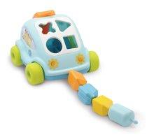 Igrače za vlečenje - Avto Hrošč Cotoons Smoby s kockami modro-zelen od 12 mes_1
