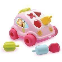 Avtomobilček Hrošč Cotoons Smoby s kockami rožnat od 12 mes