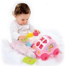 Ťahacie hračky - Autíčko Chrobáčik Cotoons Smoby s kockami ružové od 12 mes_3