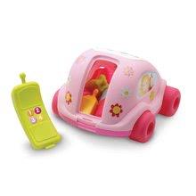 Ťahacie hračky - Autíčko Chrobáčik Cotoons Smoby s kockami ružové od 12 mes_1