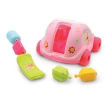 Ťahacie hračky - Autíčko Chrobáčik Cotoons Smoby s kockami ružové od 12 mes_0