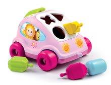 Ťahacie hračky - Autíčko Chrobáčik Cotoons Smoby s kockami ružové od 12 mes_2