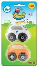 Autíčka - Sada 2 ch autíčok Vroom Planet Smoby 1 autíčko na batérie, 1 obyčajné autíčko dĺžka 7 cm od 12 mes_0