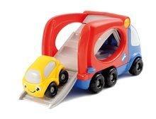 Nákladné autá - Kamión - transportér Smoby dĺžka 21 cm s farebným autíčkom od 12 mes_1