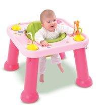 Măsuţă Cotoons Youpi Smoby cu jocuri roz de la 6 luni