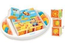 Cuburi cu poveşti Cotoons Smoby cu funcţii cu 9 piese de la 12 luni