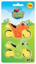 Autíčka - Sada 2 motoriek Vroom Planet Smoby dĺžka 8 cm zelená a oranžová od 12 mes_0