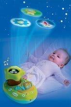 Hračky nad postieľku - Svetelný projektor k postieľke Cotoons Smoby pre kojencov modro-zelený_3