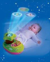 Hračky pre bábätká - Svetelný projektor k postieľke Cotoons Smoby pre kojencov ružovo-zelený_3