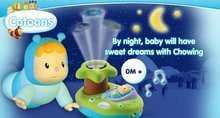 Hračky pre bábätká - Svetelný projektor k postieľke Cotoons Smoby pre kojencov ružovo-zelený_5