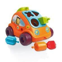 Avtomobilček z oblikami Cotoons hrošček Smoby s kockami oranžen od 12 mes
