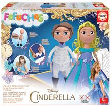 Stílusos babák Fofuchas Hamupipőke és a Herceg Educa Hamupipőke - öltöztesd fel egyedül 6 éves kortól