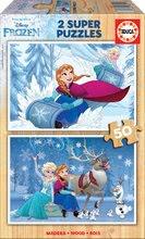 Dřevěné puzzle Frozen Educa 2x50 dílů od 5 let
