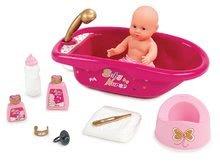 Fürdőkád játékbabának 42 cm Baby Nurse Arany sorozat Smoby zuhannyal és 9 kiegészítővel
