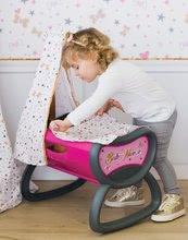 Bábiky s doplnkami sety - Set bábika Minikiss Smoby 27 cm, jedálenská stolička, kolíska s baldachýnom a kočík pre bábiku (53,5 cm rúčka) od 18 mes_10