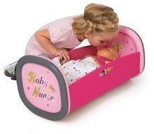 Kolíska pre bábiku 42 cm Baby Nurse Zlatá edícia Smoby s perinkou od 18 mesiacov