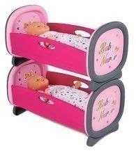 Poschodová posteľ pre dve bábiky Baby Nurse Smoby Zlatá edícia od 24 mes