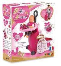 Cărucior pentru înfăşat Smoby pentru păpuşă Baby Nurse Ediţie aurie cu pătuţ şi cu bucătărie de la 18 luni
