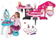 Set pečovatelské centrum pro panenku Baby Nurse Smoby a kosmetický stolek Frozen 2v1 se židličkou
