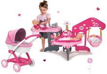 Set opatrovateľské centrum pre bábiku Baby Nurse Smoby a hlboký kočík Hello Kitty (55 cm rúčka)