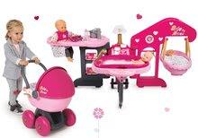 Set opatrovateľské centrum pre bábiku Baby Nurse Smoby a hlboký oválny kočík pre bábiku (56 cm rúčka) od 3 rokov