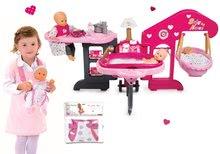 Set centru bebe Baby Nurse Smoby şi marsupiu pentru păpuşă de jucărie de 42 cm