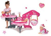 Set opatrovateľské centrum pre bábiku Baby Nurse Smoby a bábika so zvukom MiniKiss lezúca 27 cm
