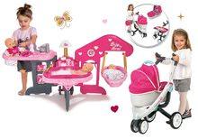 Set opatrovateľské centrum pre bábiku Baby Nurse Smoby a kočík pre bábiku Maxi Cosi & Quinny 3v1 (70 cm rúčka)