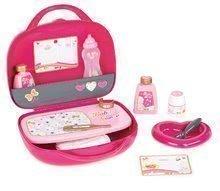 Pelenkázó szett játékbabának Baby Nurse Arany sorozat Smoby bőröndben