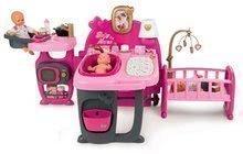 Domček pre bábiku Baby Nurse Doll's Play Center Smoby trojkrídlový s 23 doplnkami pre bábiku
