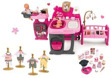 Babacenter Baby Nurse Doll's Play Center Smoby és ruhácska 32 cm játékbabára 1 darab ajándékba