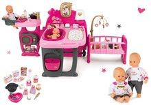 Set domček pre bábiku Baby Nurse Doll's Play Center Smoby a bábika Baby Nurse 32 cm ako darček