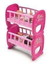 Poschodová posteľ pre bábiky Baby Nurse Twin Smoby pre 42 cm dvojičky od 24 mes