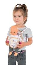Kolica za lutke setovi - Set duboka kolica za lutku od 42 cm Princeze Disney Smoby i klokanica te bočica s mlijekom Baby Nurse_5