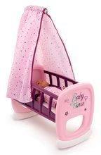 Bölcső baldachinnal Violette Baby Nurse Smoby játékbabának 18 hó-tól