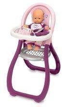 Bábiky s doplnkami sety - Set bábika Minikiss Smoby 27 cm, jedálenská stolička, kolíska s baldachýnom a kočík pre bábiku (53,5 cm rúčka) od 18 mes_2