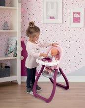 Bábiky s doplnkami sety - Set bábika Minikiss Smoby 27 cm, jedálenská stolička, kolíska s baldachýnom a kočík pre bábiku (53,5 cm rúčka) od 18 mes_4