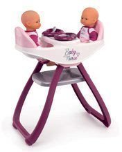 Jedálenská stolička a hojdačka Violette Baby Nurse Smoby pre dvojičky bábiky so 4 doplnkami od 24 mes