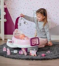 Hry na domácnost - Set úklidový vozík s elektronickým vysavačem Clean Smoby a pečovatelské centrum s panenkou_17