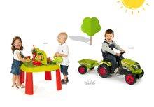 Smoby 840100-7 set detský stôl Záhradník De Jardinage 2v1 s plotom a traktor Claas GM s prívesom od 2 rokov