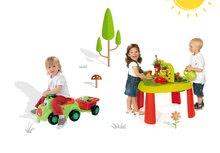 SMOBY 840100-15 detský stôl Záhradník De JARDINAGE 2v1 s plotom+odrážadlo s prívesom a setom od 2 rokov