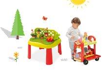 SMOBY 840100-17 detský stôl Záhradník De JARDINAGE 2v1 s plotom+vozík so zmrzlinou a hamburgermi od 2 rokov