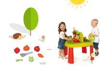 Smoby 840100-14 set dětský stůl Zahradník De jardinage 2v1 s plotem a formičky s nástroji do písku od 2 let