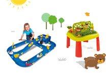 SMOBY 840100-11 detský stôl Záhradník De JARDINAGE 2v1 s plotom+skladacia vodná hra Waterplay Niagara s lodičkami od 2 rokov