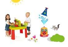 SMOBY 840100-10 detský stôl Záhradník De JARDINAGE 2v1 s plotom+striekací vodný klaun od 2 rokov